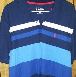 IZOD blue short sleeve shirt size M